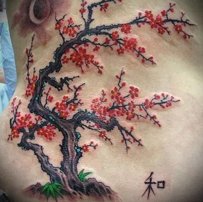 Japanese Tree Tattoo
