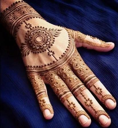 Traditional Back Hand Mehndi Design