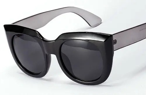 Retro Looks Wide Frame Oversized Sunglass