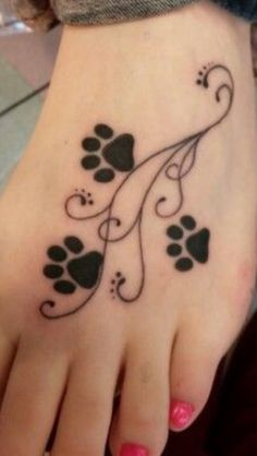 Tattoo Dog Paw Print