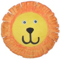 Lion Face Paper Plate Craft & The ...