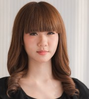 fashionable front bang hairstyles