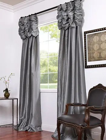 9 pleasing silk curtain designs for