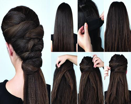 high braided ponytail hair