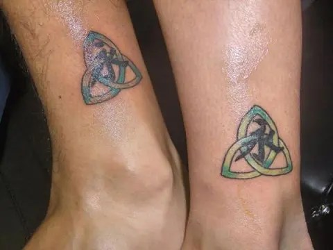 Trinity Tattoo with Centralized Letter