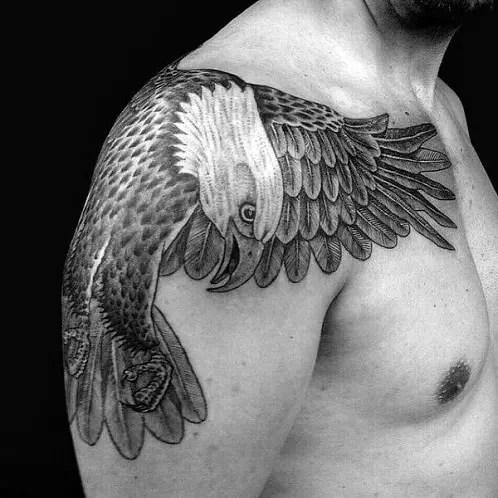 3D Eagle Tattoo Designs For Men
