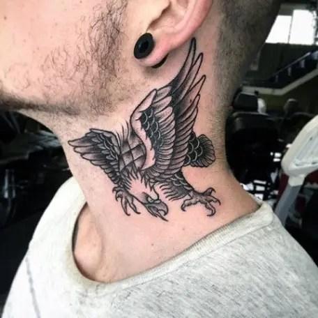 Eagle Tattoo Design On Neck