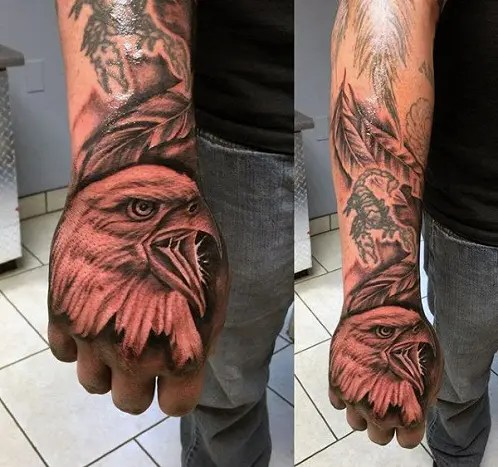 Eagle Tattoo Designs On Hand