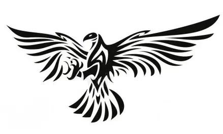 A Tribal Eagle Wings Tattoo