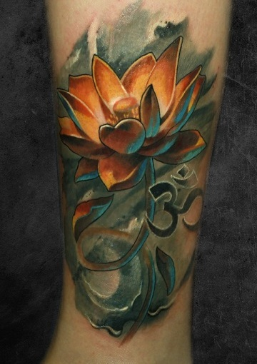 Masculine Lotus Flower Tattoo Men