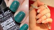 8 glitter nail art design