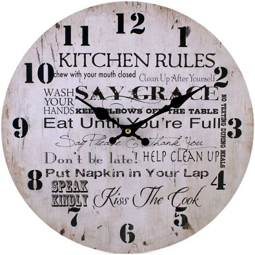 rustic kitchen clock gas stoves 15 unique clocks that make your beautiful