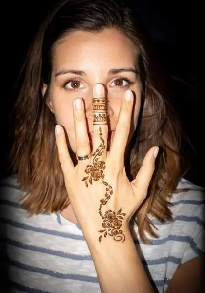 simple mehandi designs for back hand