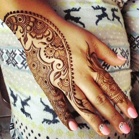 Mehandi Designs Arabic Easy Back Hand