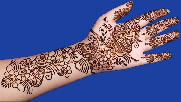 Simple Mehandi Designs Arabic Style