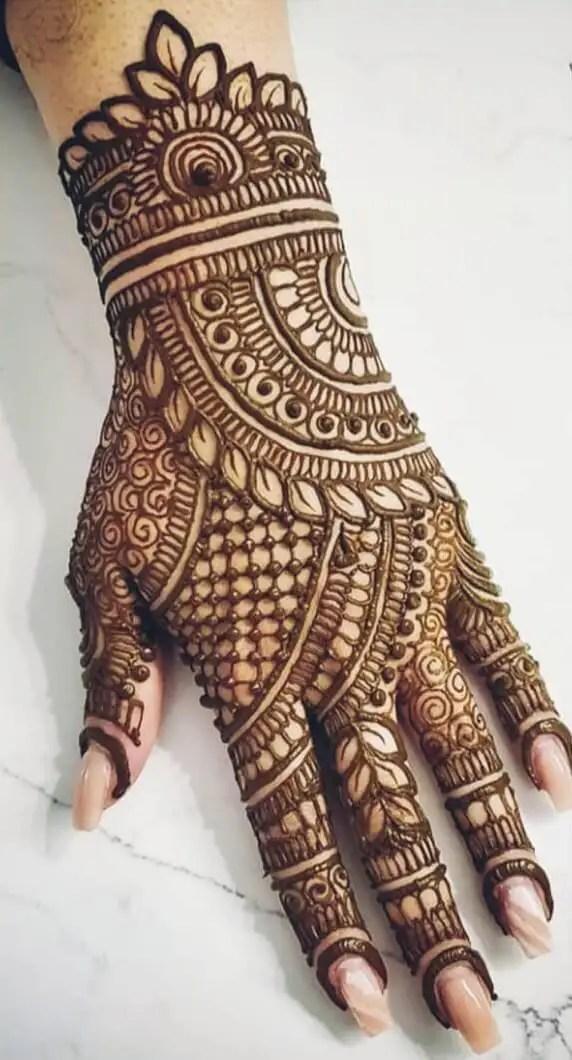 Back Hand Mehendi Design