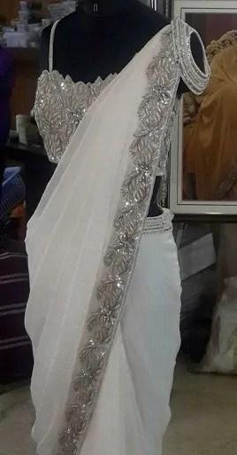 Designer Zardosi Saree