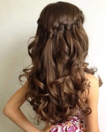 simple long hairstyle for birthday girl