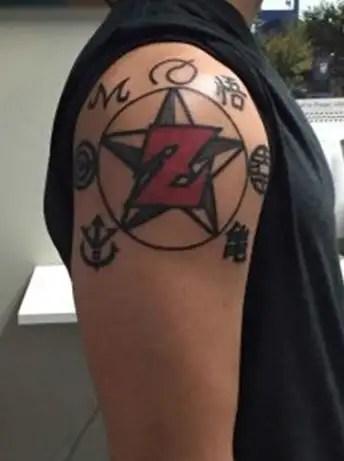 Magical Z Letter Tattoo Design