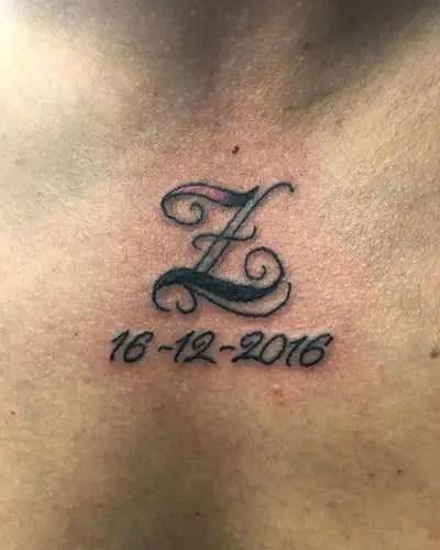Memorable Z Letter Tattoo