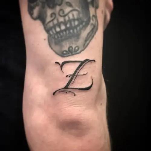 Unique Z Letter Tattoo Design
