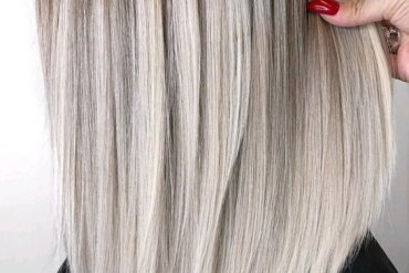Best Vanilla Blonde Balayage Hair Color Shades