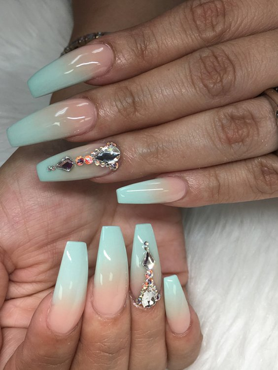 Light Blue & Pink Nail Art Designs in 2018