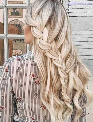 Long Braids Hairstyle for Wedding Day