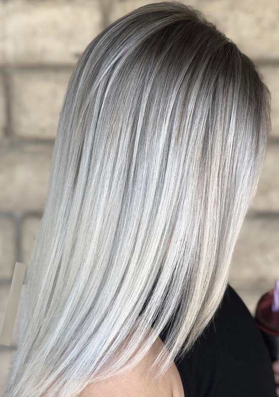 12 Perfect Ice Blonde Sleek Straight Hairstyles For 2018