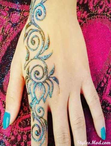 Glitter Henna Mehndi Designs for 2018