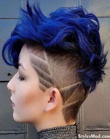 Charming Blue Hair Colors Trends on Short Hair for 2018