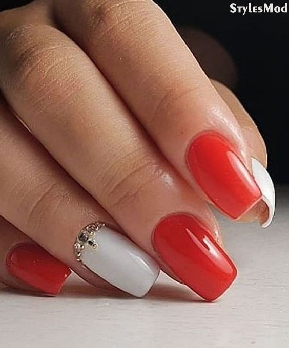 Red White Nail Art Ideas Trends You Ll Adore In 2018 Stylesmod