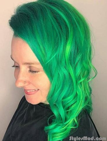 Neon Green Hair Color Ideas