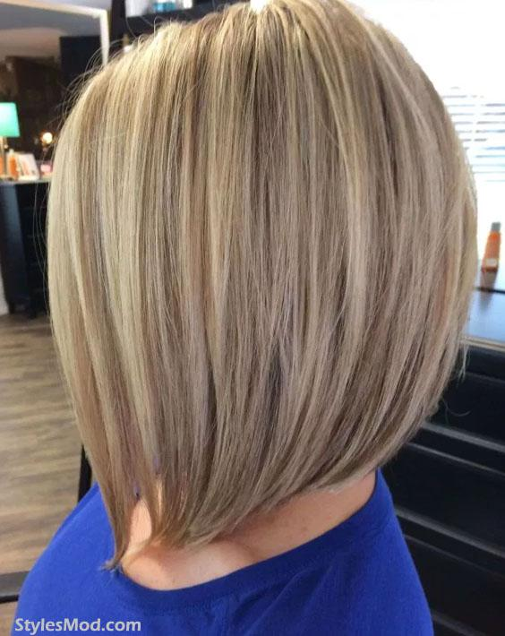 A Line Long Blonde Bob Haircuts for Womens