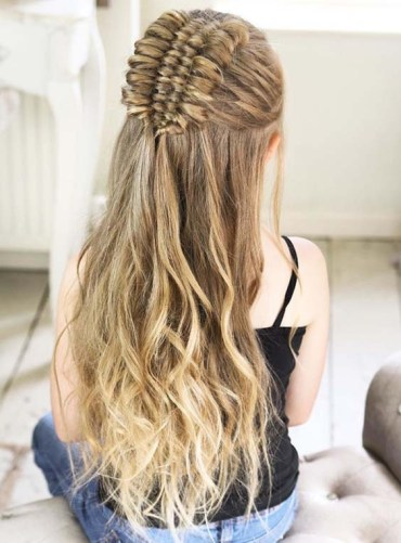 Half up Four Strand Infinity Braids in 2018