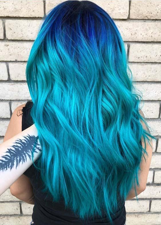 Nightfall Deep Blue Hair Colors for 2018