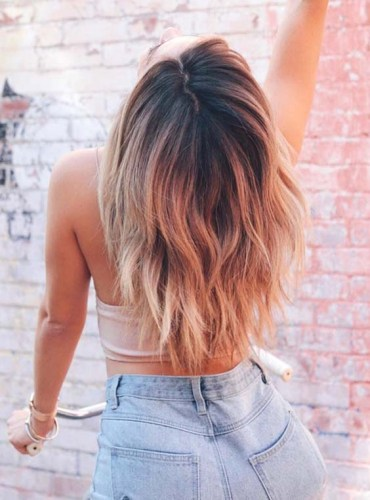 Ombre Hair Color Trends with Dark Roots in 2018