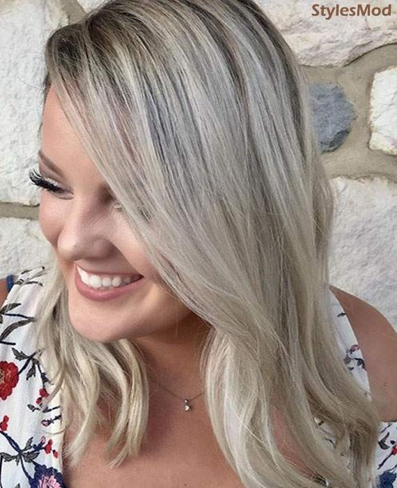 Balayage Silver Hair Color Trends & Style