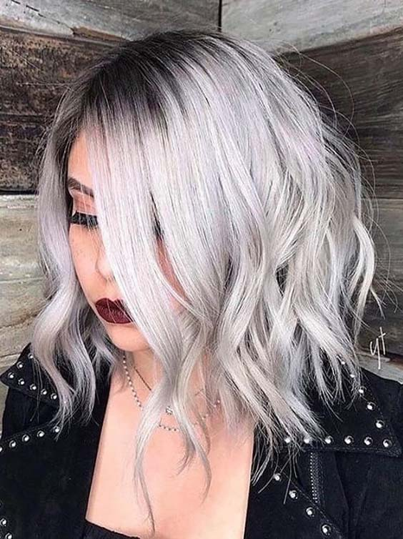 Silver Lob Hairstyles & Haircuts in 2018