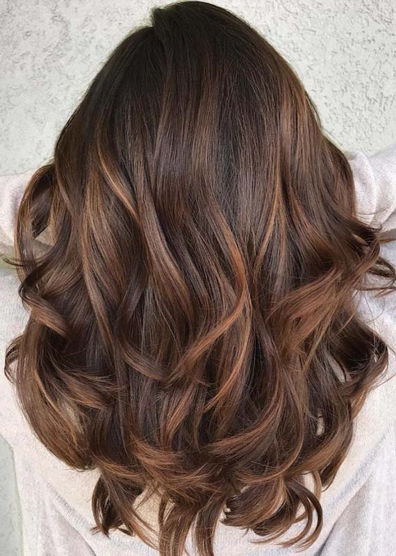 Smooth Caramel Balayage Hair Color Ideas for 2018