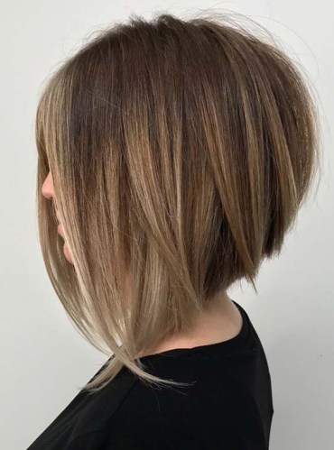 Stacked Bob Haircuts with Long Textured Layers in 2018