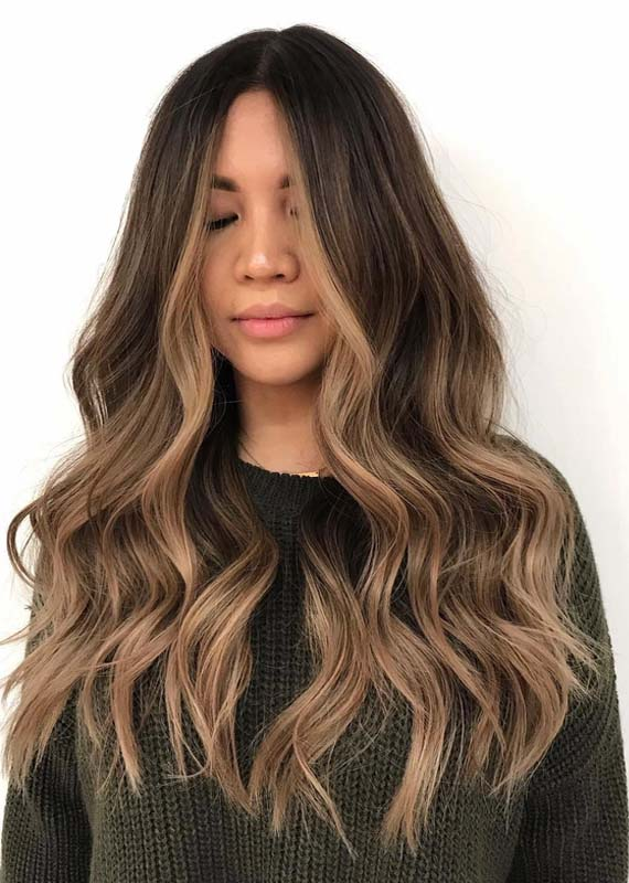 Sun Kissed Brunette Hair Color Ideas for 2018