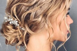 Textured Bridal Updo Hairstyles for 2018