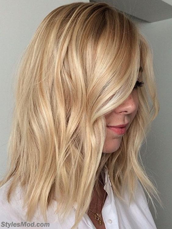 Mid Length Bob Blonde Hairstyle & Haircuts