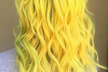 Amazing Look of Yellow Hair Color Style for Your Hair In 2018