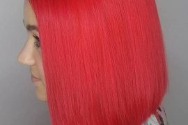 Dazzling Look of Bright Red Hair Color Ideas & Style for 2018