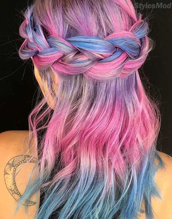 Round Head Braids Hairstyles with Different Shades of Hair Color