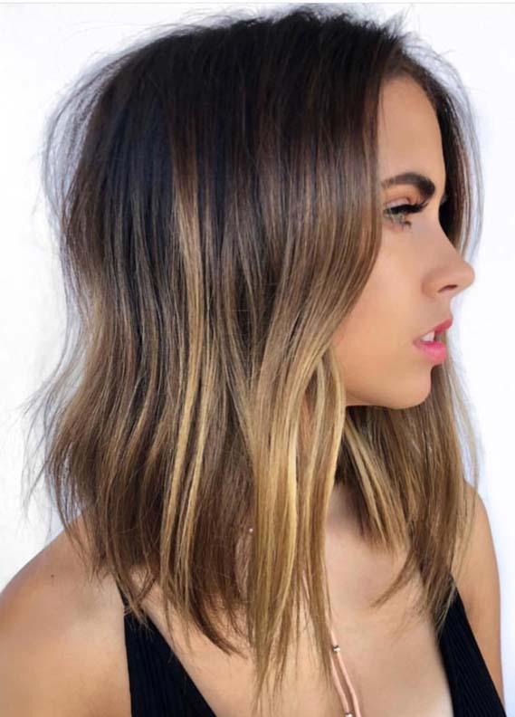 Medium Length Brunette Balayage Hairstyles for 2018