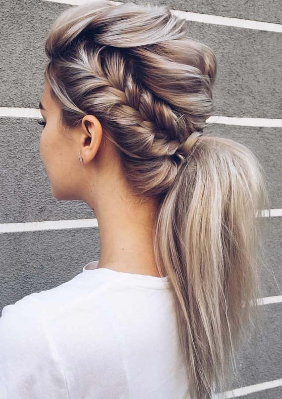 Modern Styles Of Braided Ponytail Hairstyles for 2018