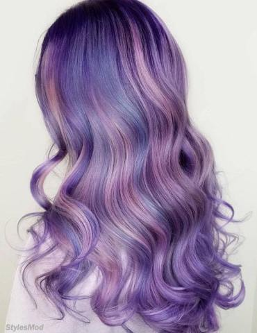 Multi Shades of Purple Hair Color Highlight for the Year of 2018